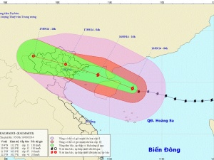 Cập nhật tin bão số 3: Sáng nay, 16/9 bão quét qua đảo Hải Nam trước khi vào Việt Nam