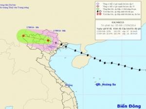 Thông tin mới nhất về bão số 3 ngày 17/9: Bão số 3 đã suy yếu thành áp thấp nhiệt đới