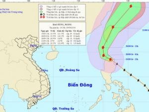 Thông tin mới nhất về bão Fung Wong ngày 20/9: Bão di chuyển theo hướng Bắc Tây Bắc