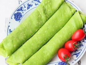 Cách làm bánh crepe xanh mướt từ rau cải vừa ngon vừa bổ cho bé