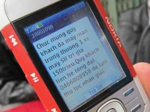 Tin nhắn rác quảng cáo và lừa đảo lại nở rộ