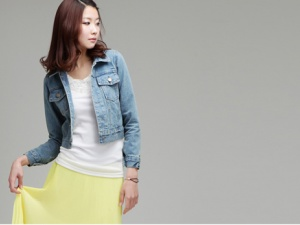 Bí quyết mặc đẹp cùng áo khoác jean