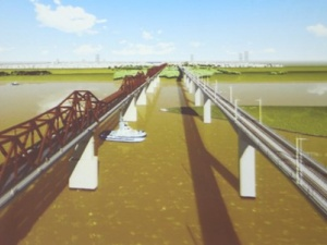 Nghiên cứu kỹ phương án cầu đường sắt vượt sông Hồng