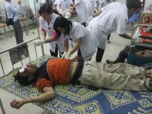 Toàn cảnh sập giàn giáo Formosa tại Hà Tĩnh làm 13 người chết