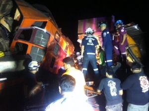 Thái Lan: Tàu hỏa va chạm, ít nhất 40 người bị thương