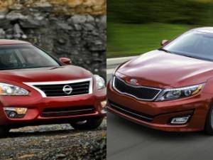 Người dùng đắn đo giữa ô tô gia đình Kia Optima và Nissan Altima