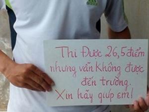 Bộ trưởng Bộ GD-ĐT xem xét lời kêu cứu của thí sinh 26,5 điểm trượt đại học