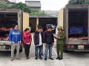 Một tấn thịt bò, xương bò 'bẩn' chuẩn bị tiêu thụ đã bị chặn đứng