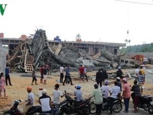 Tin tức mới nhất vụ sập giàn giáo khiến 11 người nhập viện ở Huế