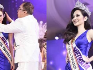 Diệu Linh bị 'quên' trao vương miện sau khi được xướng tên tại Nữ hoàng Du lịch Quốc tế 2018