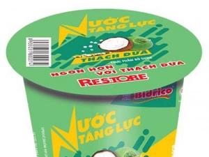 Bidrico tung sản phẩm mới: Nước tăng lực thạch dừa Bidrico bổ dưỡng thơm mát
