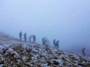 Giới trẻ đón Tết Dương lịch tại đỉnh Mẫu Sơn và ngắm tuyết rơi