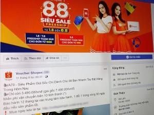 Lập fanpage giả mạo sàn thương mại điện tử: Người dùng ham rẻ vớ 'trái đắng'