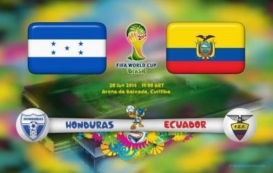 Link sopcast xem trực tiếp trận Honduras - Ecuador