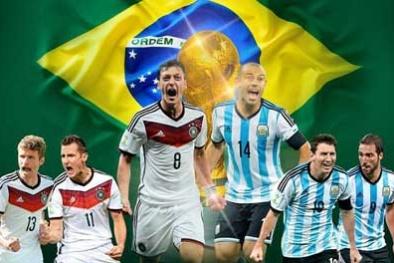Tường thuật trực tiếp chung kết World Cup 2014 ĐỨC - ARGENTINA