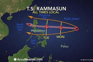 Bão Rammasun xuất hiện giống siêu bão thế kỷ Linda