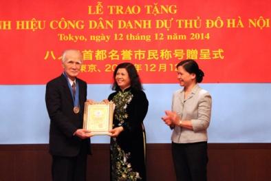 Trao danh hiệu công dân danh dự Thủ đô Hà Nội cho cựu Thủ tướng Nhật Bản