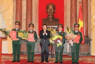 Chủ tịch nước trao quyết định phong hàm bốn Thượng tướng