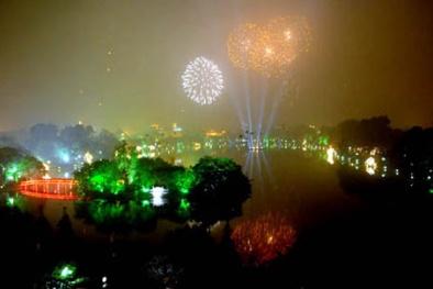 Đêm giao thừa Tết Ất Mùi 2015, Hà Nội bắn pháo hoa ở đâu?