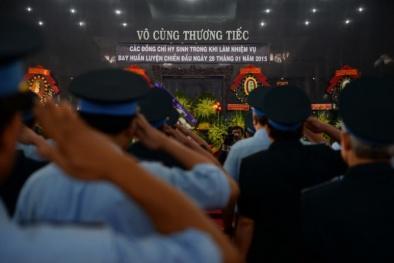 Vụ trực thăng rơi ở TP.HCM: Nghẹn ngào tiễn đưa các chiến sỹ hy sinh