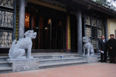 Di tích đầu tiên đón nhận linh vật thuần Việt thay sư tử đá Trung Quốc