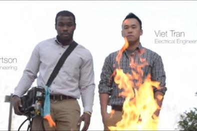Phát minh dập lửa bằng âm thanh của sinh viên Việt Nam
