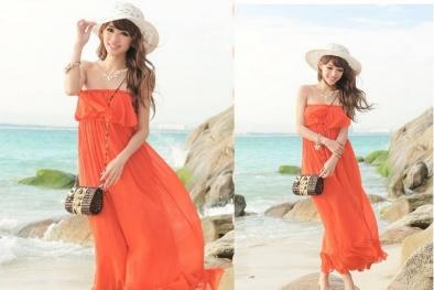 Chọn trang phục đi biển cho bạn gái nổi bật dịp lễ