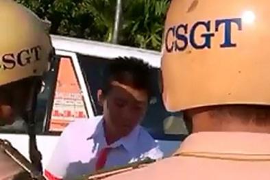 Thực hư thông tin CSGT giật điện thoại của tài xế taxi