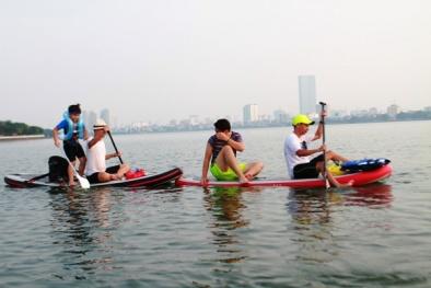 Trò chơi ván lướt khiến giới trẻ Hà Nội 'phát sốt'