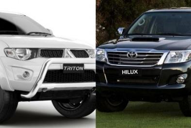 Phân khúc bán tải 'tăng nhiệt' với Toyota Hilux và Mitsubishi Triton