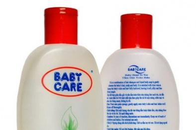 Đình chỉ lưu hành sữa tắm trẻ em Baby Care bán nhiều trong siêu thị