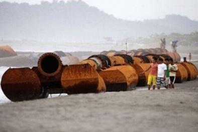 Đường ống khổng lồ của Trung Quốc bất ngờ xuất hiện ở Biển Đông?