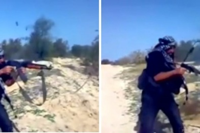 Khủng bố IS vừa bắn thử AK Trung Quốc thì gãy súng