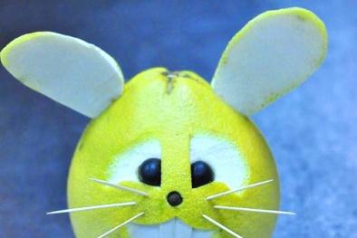 Làm chú thỏ đáng yêu trang trí mâm cỗ trung thu tặng bé yêu