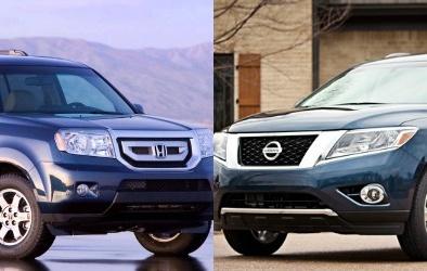 Chọn xe tầm trung 7 chỗ Honda Pilot hay Nissan Pathfinder?