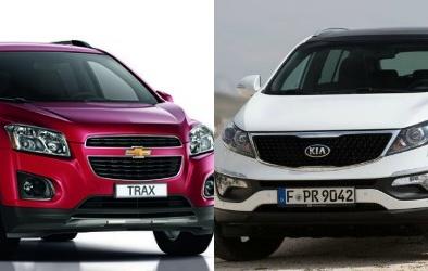 Chevrolet Trax và Kia Sportage 'đại chiến' dòng SUV cỡ nhỏ