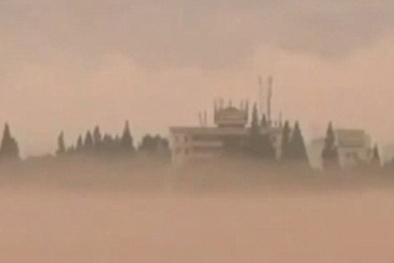 Trung Quốc: 'Thành phố ma' khổng lồ ẩn hiện trên mây gây sốc