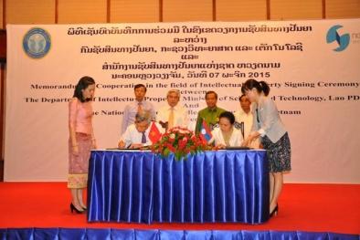 Ký kết hợp tác về sở hữu trí tuệ giữa Việt Nam và Lào