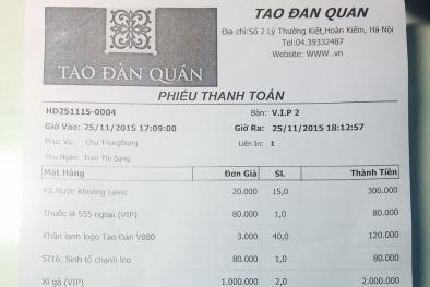 Hà Nội: Khách hàng 'phát sốt' vì bữa ăn có 'dưa chuột chẻ VIP' hết gần 26 triệu đồng