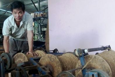 Phát minh máy se chỉ xơ dừa giúp nông dân tăng năng suất