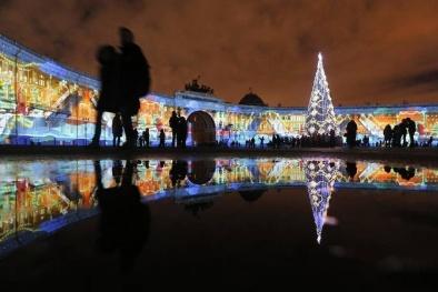 Ngắm nhìn 'bữa tiệc ánh sáng' trong đêm Giáng sinh 2015 trên toàn thế giới