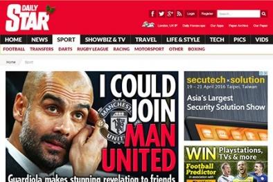 Pep Guardiola: 'Tôi có thể đến Man United, không phải Man City'