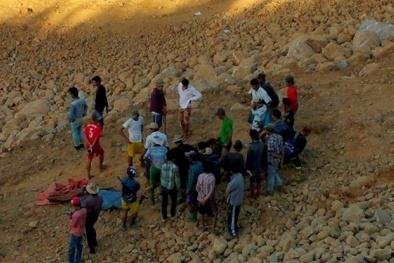 Lở đất kinh hoàng ở Myanmar: Hàng chục người bị 'nuốt sống'