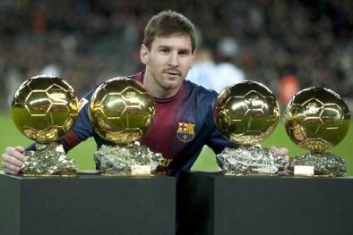 Quả bóng vàng FIFA 2015 không thể thoát khỏi tay Messi