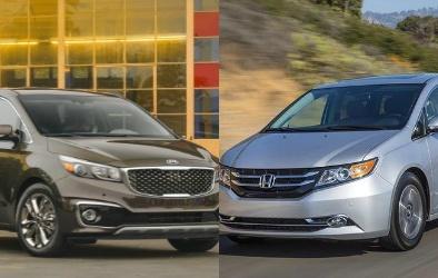 Kia Sedona và Honda Odyssey chạy đua trong phân khúc minivan