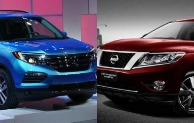 Crossover hạng trung Honda Pilot đối đầu Nissan Pathfinder 2016