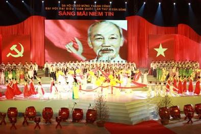 1500 nghệ sĩ, diễn viên tham gia dạ hội mừng Đại hội Đảng thành công