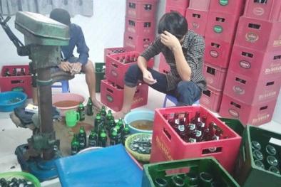 Vạch trần các cơ sở sản xuất bia giả thương hiệu nổi tiếng
