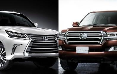 Toyota Land Cruiser 'chạm trán' Lexus LX 570 trong phân khúc SUV hạng sang