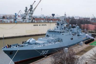 Hỏa lực 'sấm sét' của khu trục hạm Hải quân Nga mới nhận